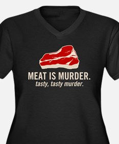 Meat is murder, tasty murder Women's Plus Size V-N