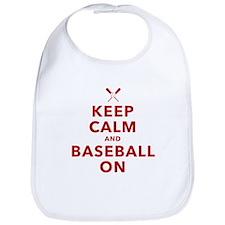 Keep Calm and Baseball On Bib