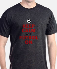 Keep Calm and Futbol On T-Shirt
