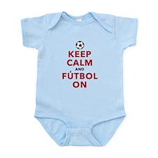 Keep Calm and Futbol On Infant Bodysuit