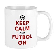 Keep Calm and Futbol On Mug