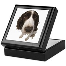 Springer Spaniel Close-Up Keepsake Box