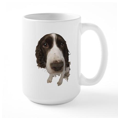 Springer Spaniel Close-Up Large Mug