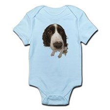 Springer Spaniel Close-Up Infant Bodysuit