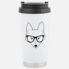 Cute Arctic Fox with Gl Travel Mug