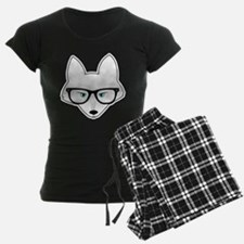 Cute Arctic Fox with Glasses Pajamas