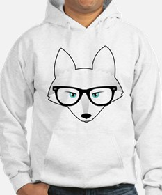 Cute Arctic Fox with Glasses Hoodie