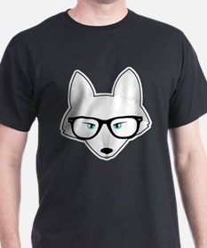 Cute Arctic Fox with Glasses T-Shirt