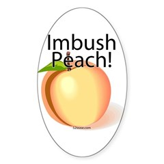 Imbush Peach! Oval Decal