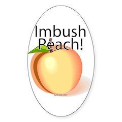 Imbush Peach! Oval Decal