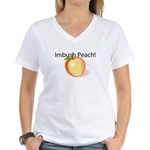 Imbush Peach! Women's V-Neck T-Shirt
