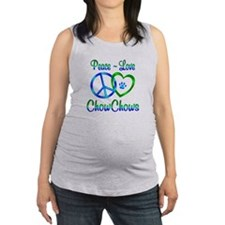 Peace Love Chow Chows Maternity Tank Top