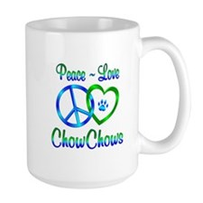 Peace Love Chow Chows Mug