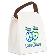 Peace Love Chow Chows Canvas Lunch Bag