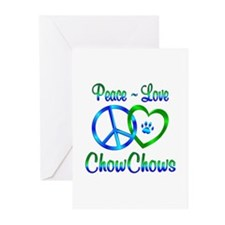Peace Love Chow Chows Greeting Cards (Pk of 10)