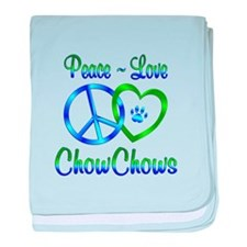 Peace Love Chow Chows baby blanket