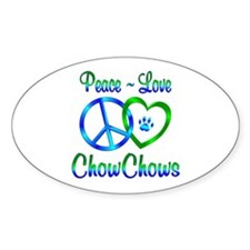 Peace Love Chow Chows Decal