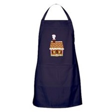 Gingerbread House Apron (dark)