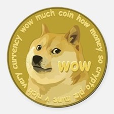 Cute Bitcoin Round Car Magnet