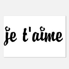I Love You in French Postcards (Package of 8)
