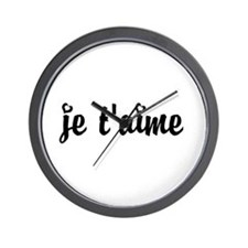 I Love You in French Wall Clock