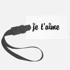 I Love You in French Luggage Tag