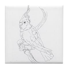 Cockatoo Parrot Cockatiel Bird Tile Coaster