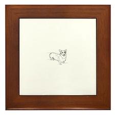Welsh Corgi dog Framed Tile