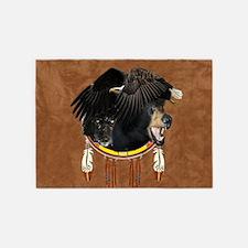 Eagle, Bear & Wolf 5'x7'Area Rug