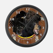 Eagle, Bear & Wolf Large Wall Clock