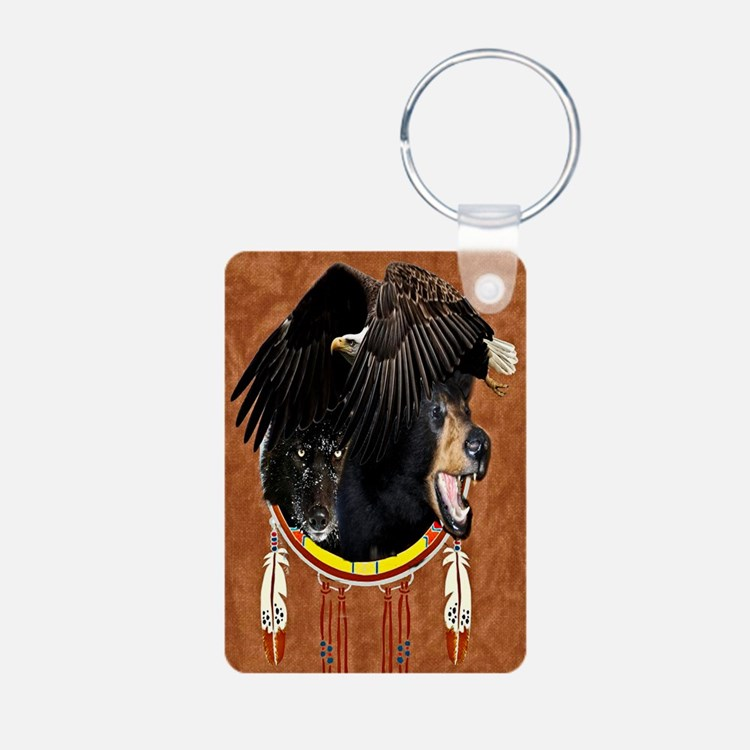 Eagle, Bear & Wolf Keychains