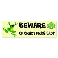 Crazy Frog Lady Bumper Sticker Bumper Sticker