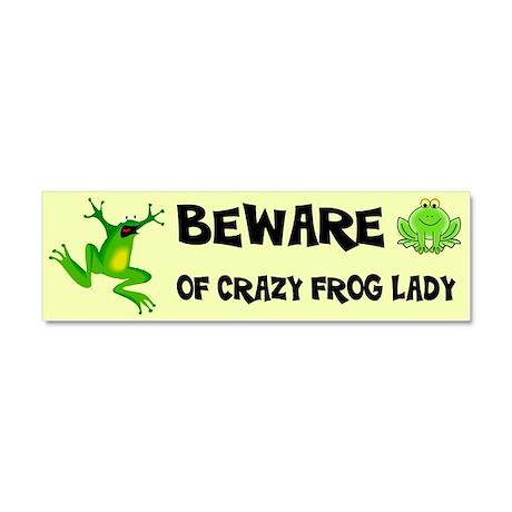 Crazy frog lady car magnet 10 x 3 car magnet 10 x
