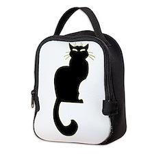 Cat Lover Lunch Black Cat Neoprene Lunch Bag