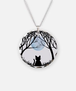 Fat Cat Heart Charm Cute Necklace