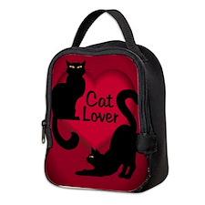 Cat Lover Lunch Black Cat Love Neoprene Lunch Bag