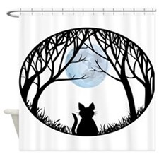 Cat Lover Shower Fat Cat Shower Curtain