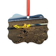 Lacrosse Beach Stick Ornament