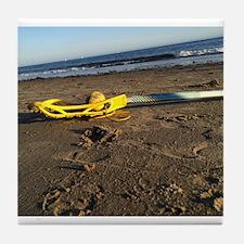 Lacrosse Beach Stick Tile Coaster