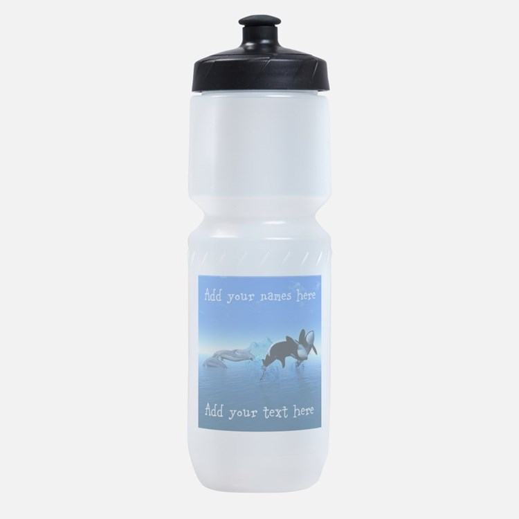 Dolphins and Orca's Sports Bottle