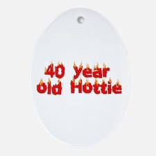 40th Birthday Oval Ornament