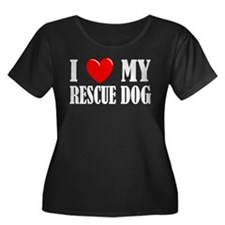 LoveMyRescueDog2 Plus Size T-Shirt