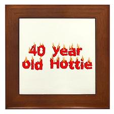 40th Birthday Framed Tile