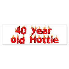 40th Birthday Bumper Bumper Sticker