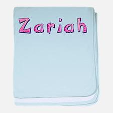Zariah Pink Giraffe baby blanket