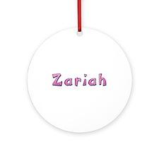 Zariah Pink Giraffe Round Ornament