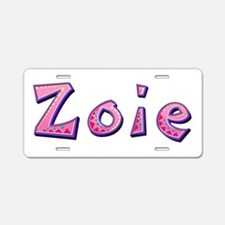Zoie Pink Giraffe Aluminum License Plate