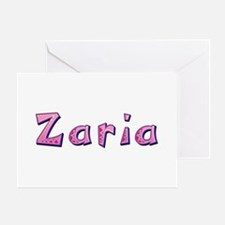 Zaria Pink Giraffe Greeting Card
