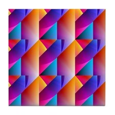 Jazzy Summer Colors Pattern Tile Coaster