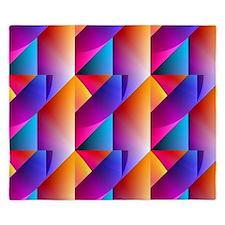 Jazzy Summer Colors Pattern King Duvet